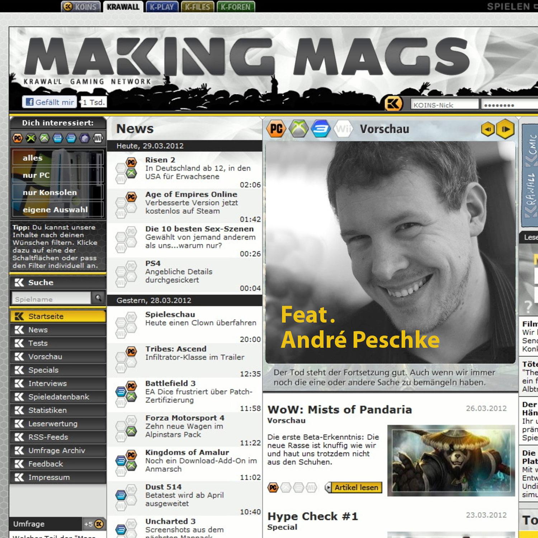 Krawall.de war Teil des Krawall Gaming Network, Chefredakteur war André Peschke.
