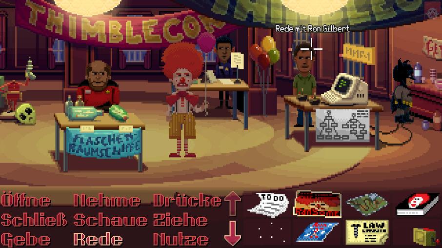 Thimbleweed Park ist ein Retro-Adventure von Ron GIlbert.