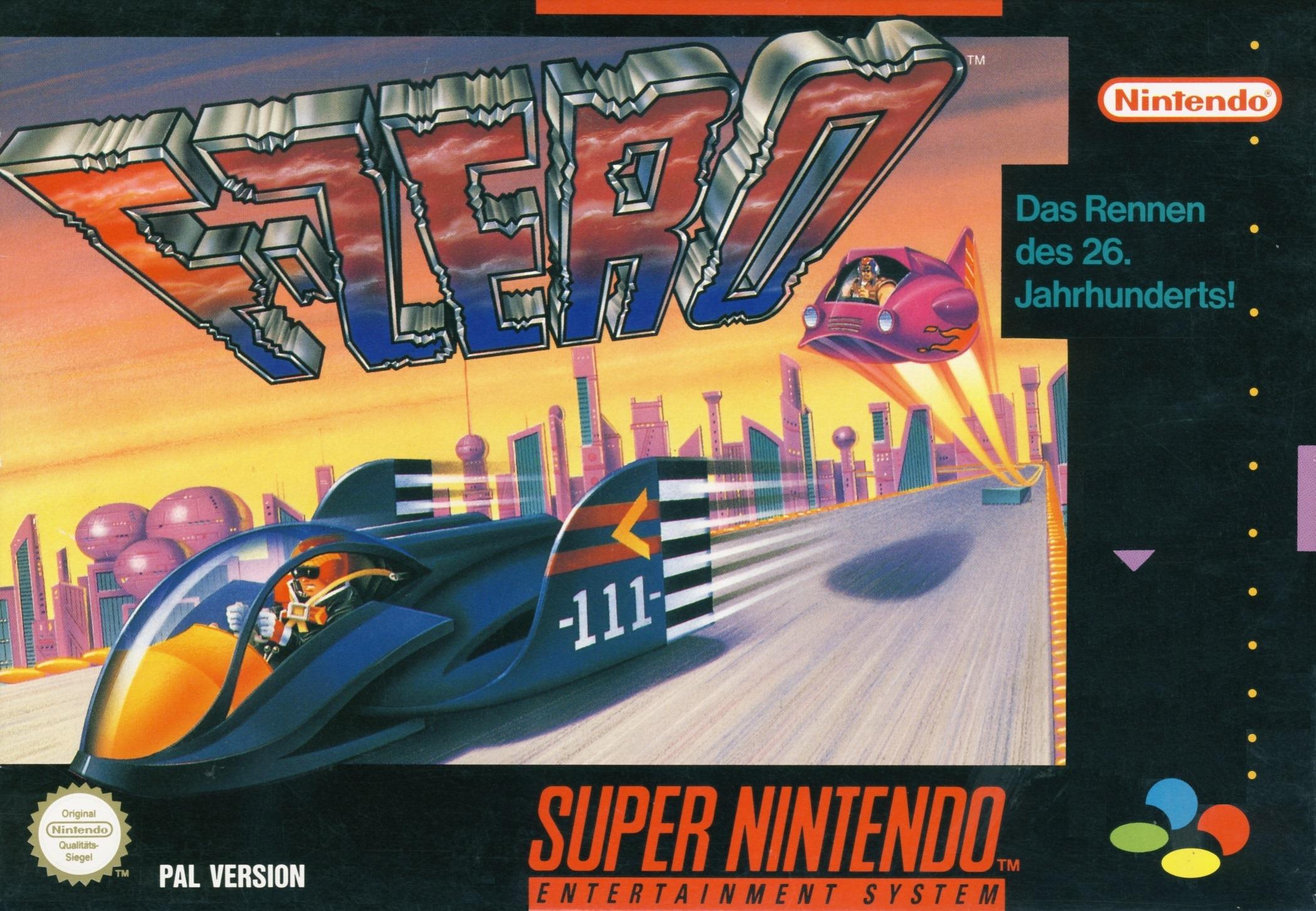 Das Cover der PAL-Version von F-Zero.