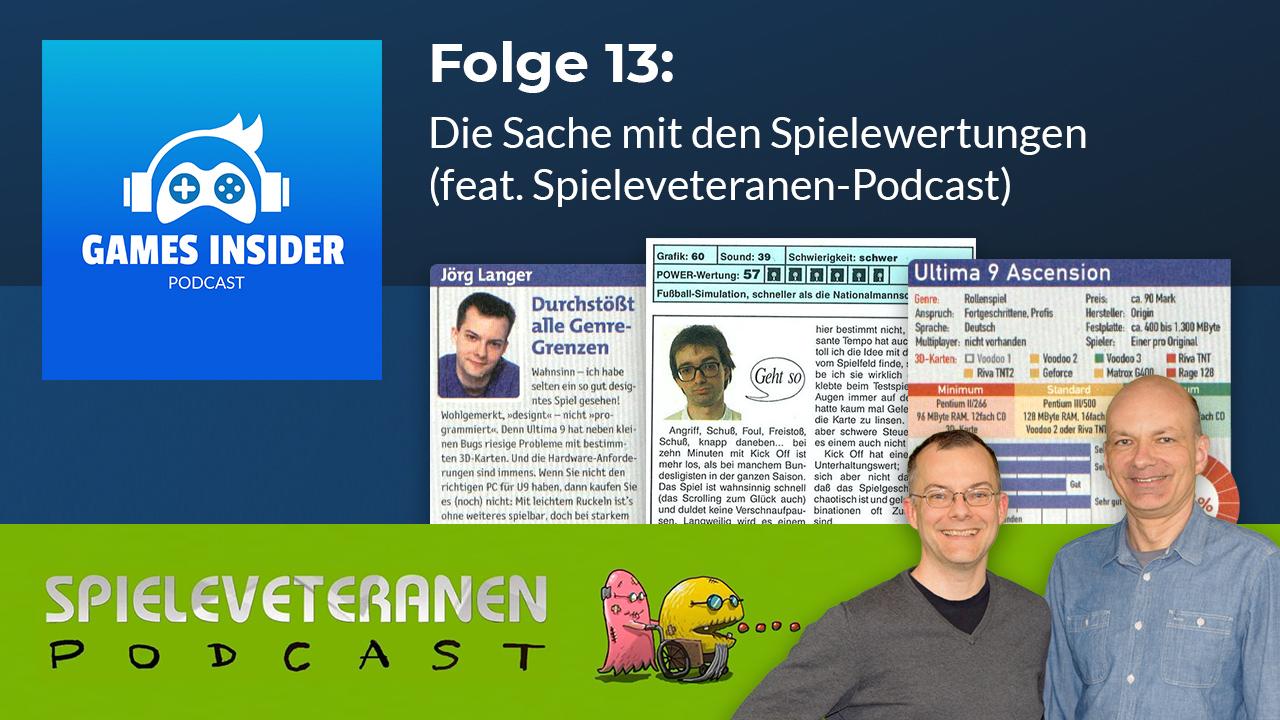 Die Spieleveteranen zu Gast beim Games Insider Podcast.