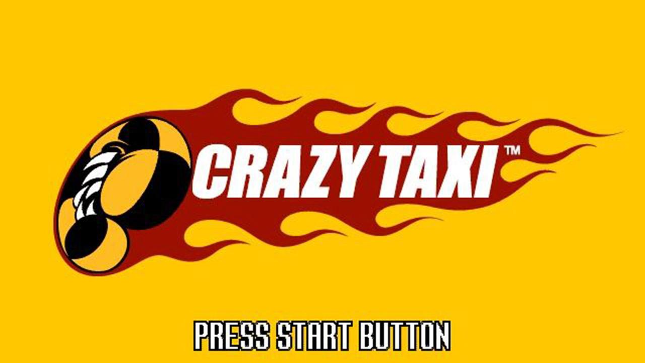 Der Startbildschirm von Crazy Taxi für Sega Dreamcast.