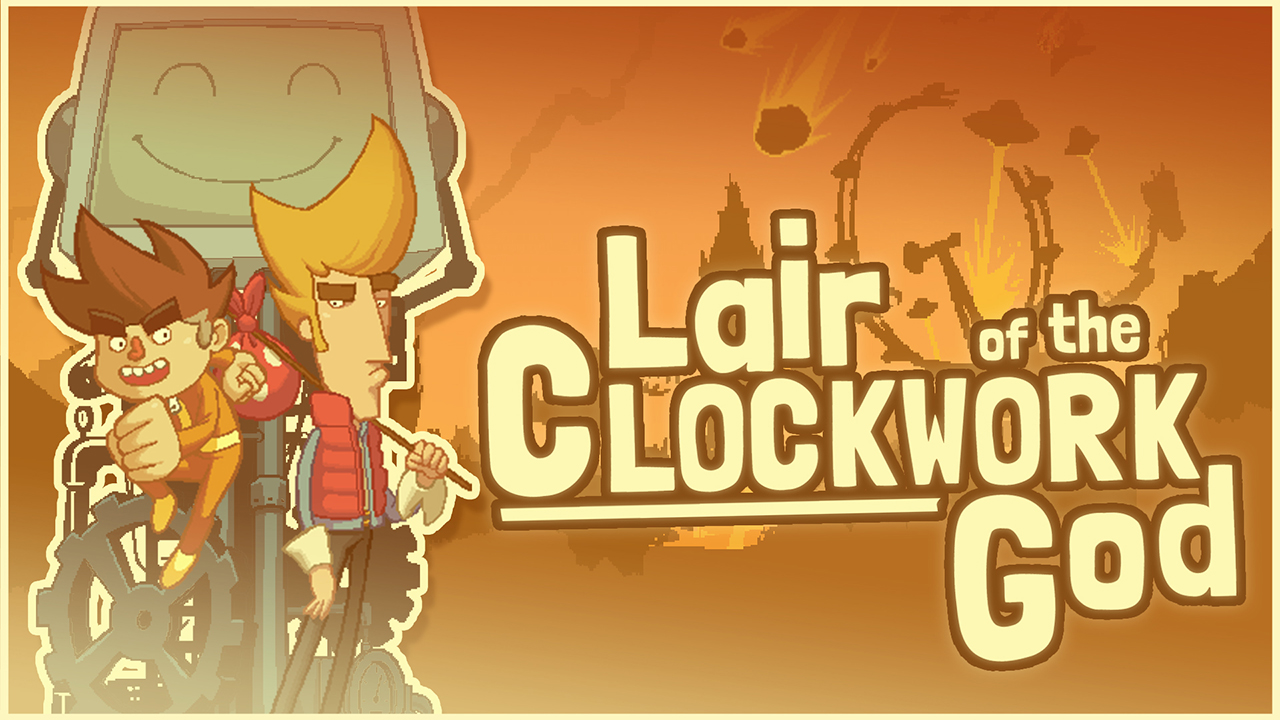 Lair of the Clockwork God ist eine ungewöhnlicher Mix aus Point'n'-Click-Adventure und Jump'n'Run.