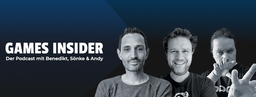 Die Games Insider: Benedikt, Sönke und Andy.