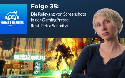 Folge 35: Die Relevanz von Screenshots in der Gaming-Presse (feat. Petra Schmitz)